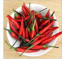 Chillies grow best in hot dry sunny spots