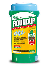 Quick and fast weed killer Roundup Gel